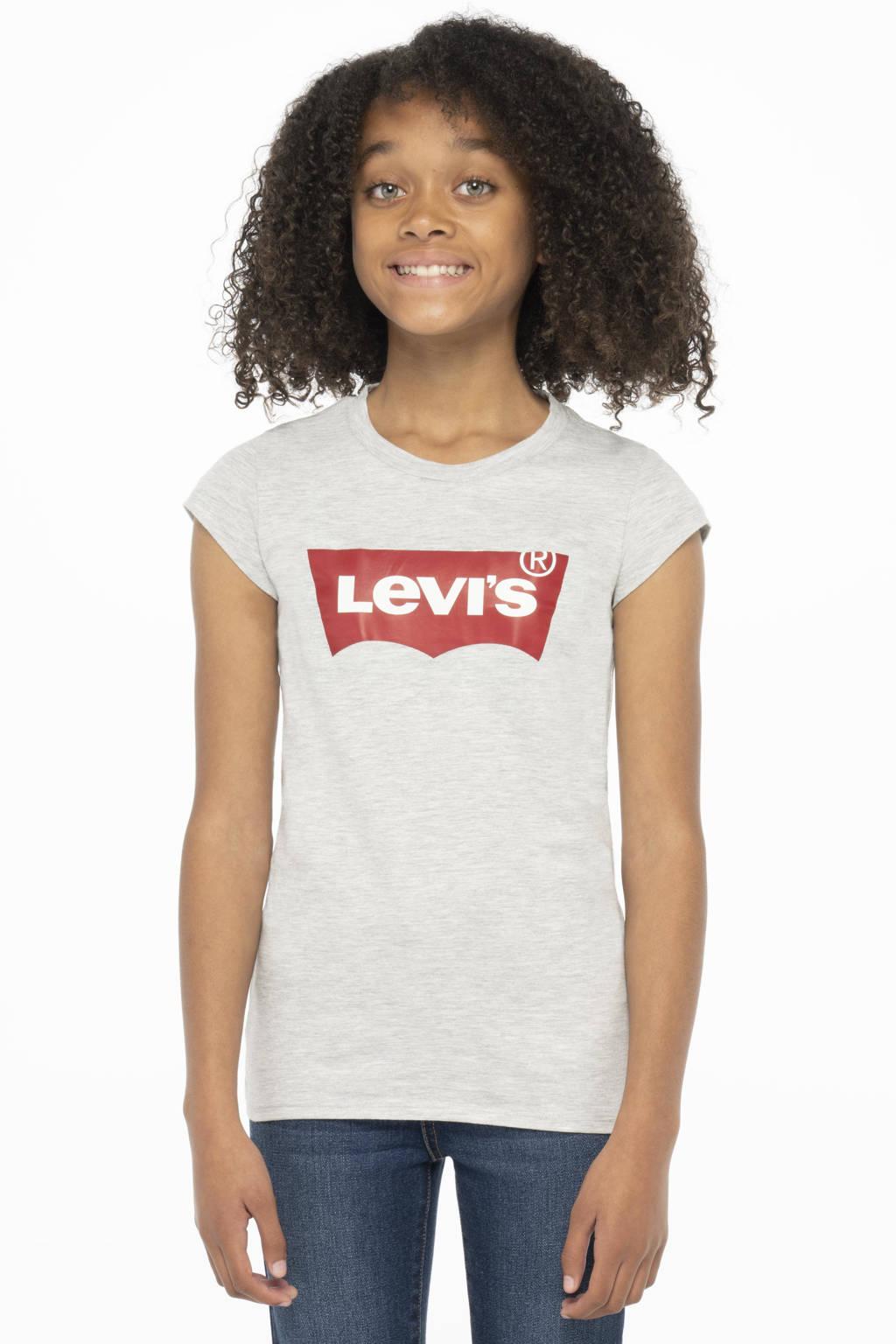 Levi's Kids T-shirt Batwing met logo lichtgrijs, Lichtgrijs