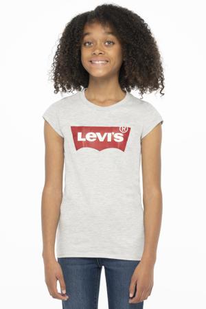 Levi's Kids T-shirt Batwing met logo lichtgrijs