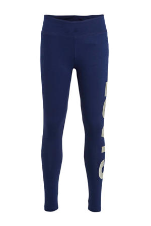 Levi's Kids broek met logo donkerblauw/wit