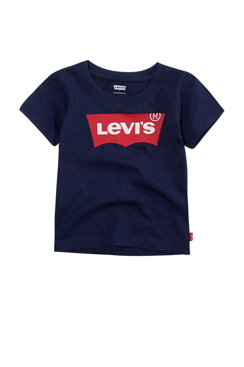 Levi's Kids T-shirt batwing met logo donkerblauw/rood, Donkerblauw/rood