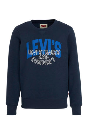Levi's Kids sweater met logo donkerblauw