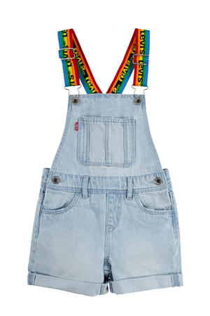 Levi's Kids tuinbroek light denim/multi colour