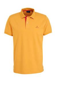GANT slim fit polo met logo oranje, Oranje
