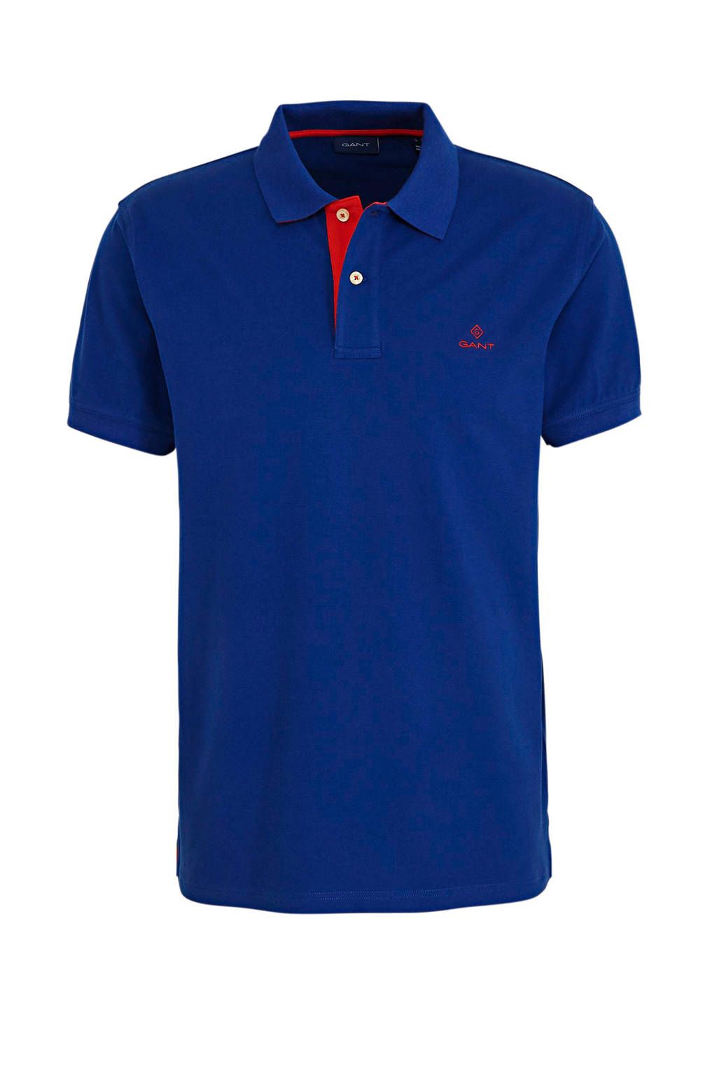 GANT slim fit polo met logo blauw, Blauw