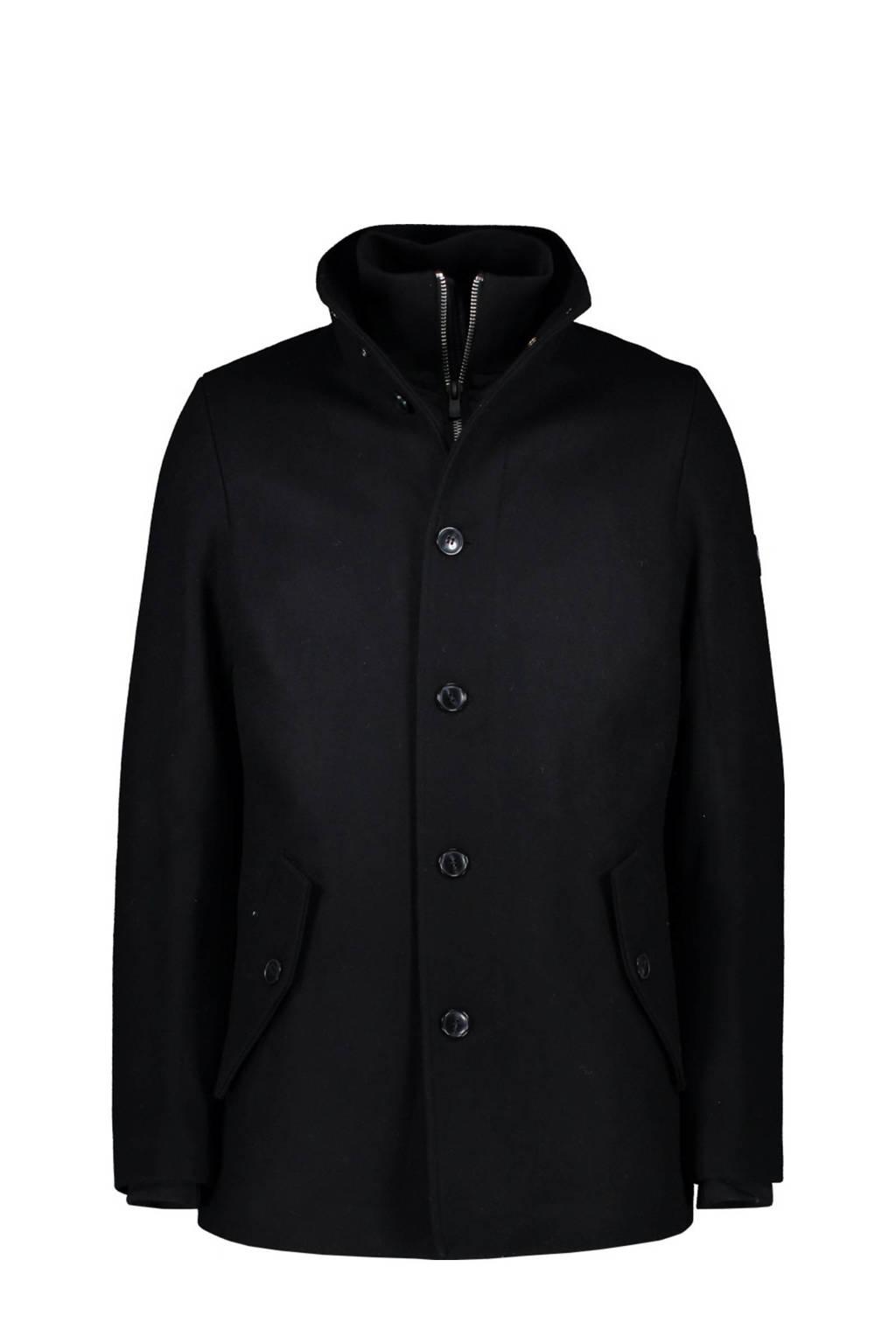 Cars winterjas met wol zwart, Zwart