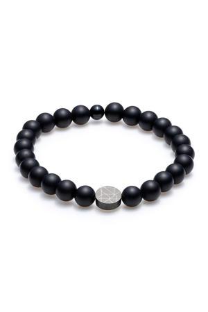 natuursteen armband SL220019 zwart