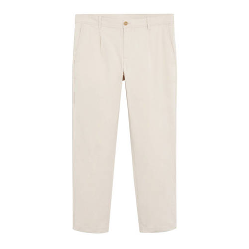Mango Man slim fit pantalon naturel wit