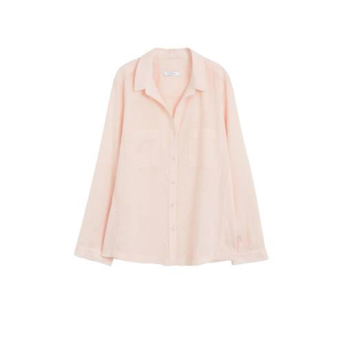 Violeta by Mango blouse met textuur lichtroze