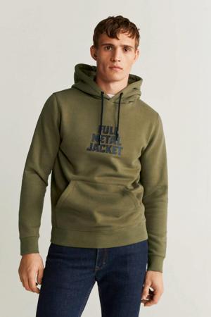 hoodie met printopdruk beige - kaki