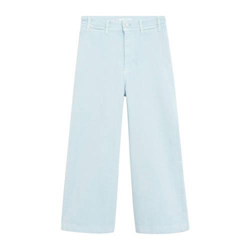 Mango high waist loose fit culotte lichtblauw