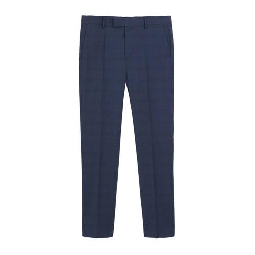 Mango Man wollen slim fit pantalon middenblauw