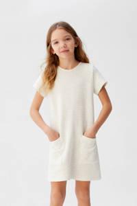 Mango Kids T-shirtjurk met textuur lichtbeige, Lichtbeige