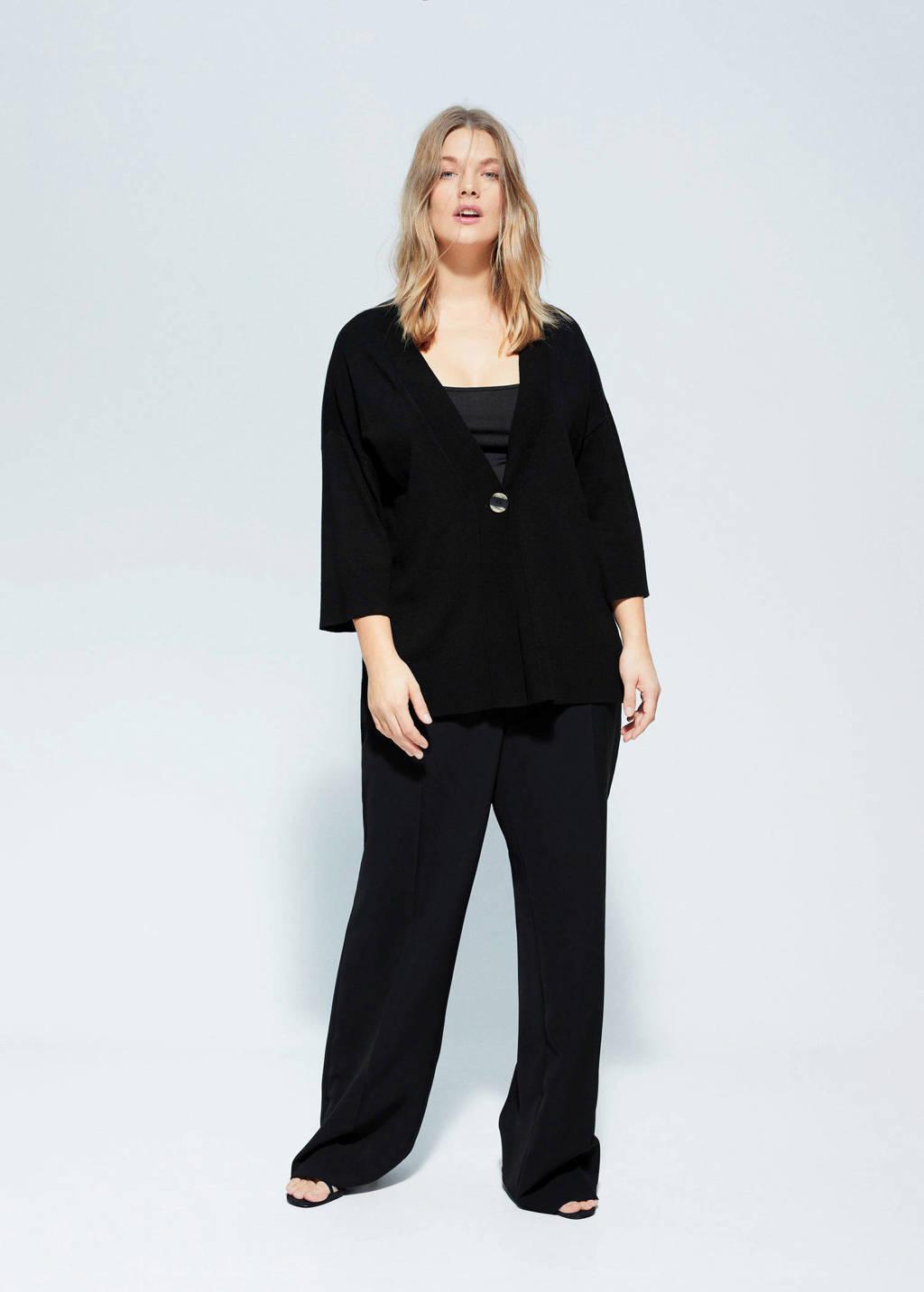 Violeta by Mango vest zwart, Zwart