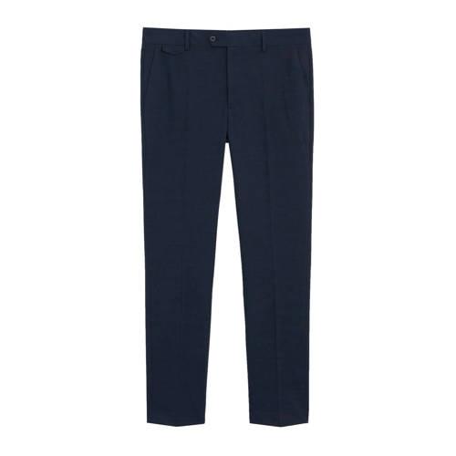 Mango Man slim fit pantalon met wol en krijtstreep