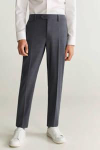 Mango Man slim fit pantalon met wol grijs, Grijs