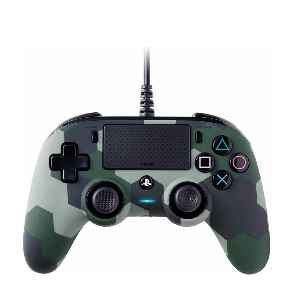 BigBen Nacon Wired Official PS4 controler (CAMO), Camouflage