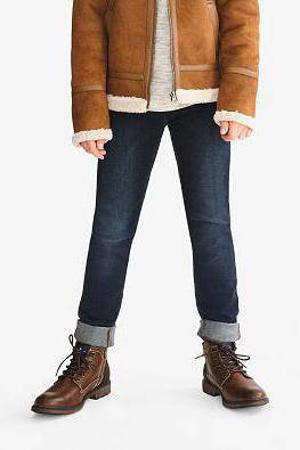 skinny jeans van biologisch katoen donkerblauw
