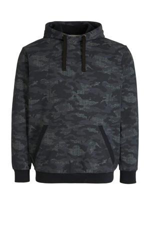 hoodie met all over print zwart