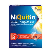 Niquitin Clear Pleisters 7 mg