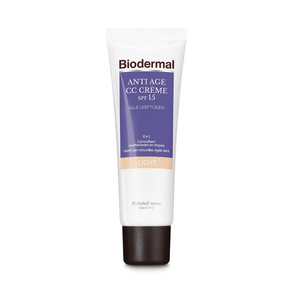 Biodermal Anti Age CC  Camouflerende crème met SPF15, Light