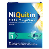 Niquitin Clear Pleisters 21 mg