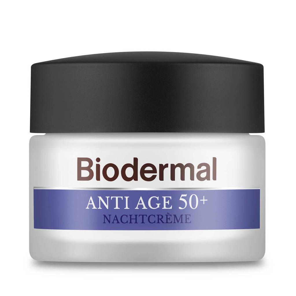 Biodermal Anti Age 50+  Nachtcrème tegen huidveroudering