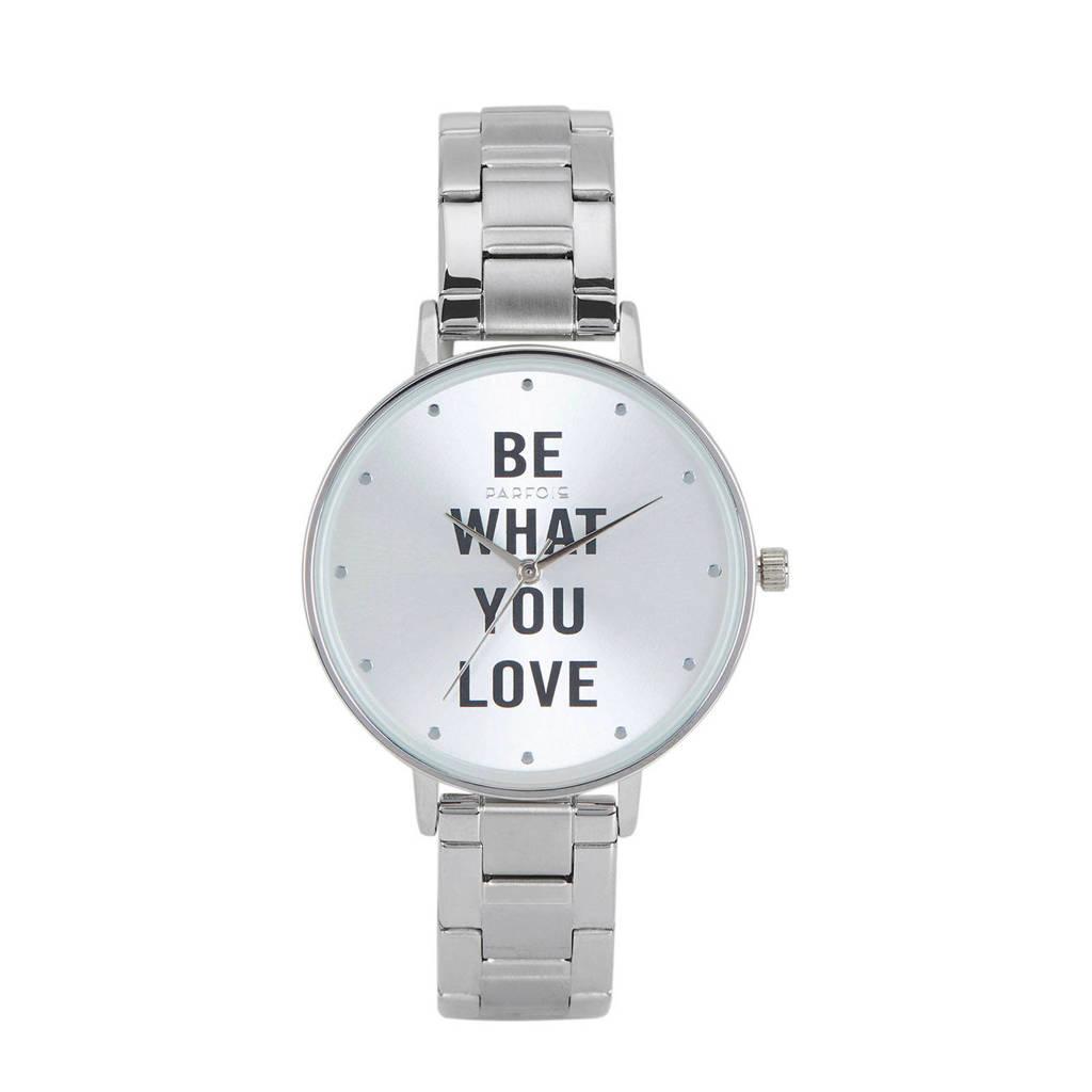 Parfois horloge zilver, Zilver