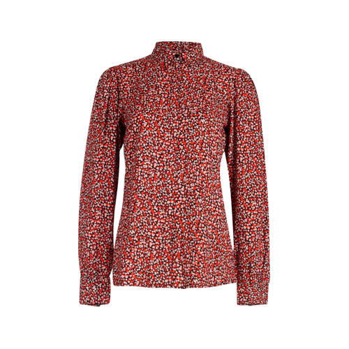 Eksept by Shoeby blouse met all over print rood