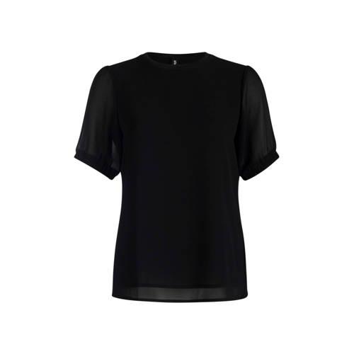 Eksept by Shoeby semi-transparante top zwart