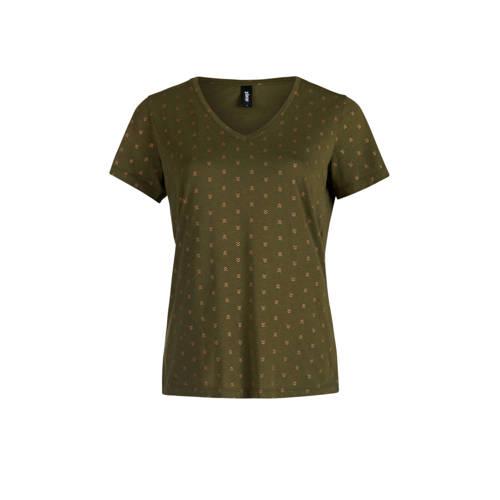 Eksept by Shoeby T-shirt met all over print groen