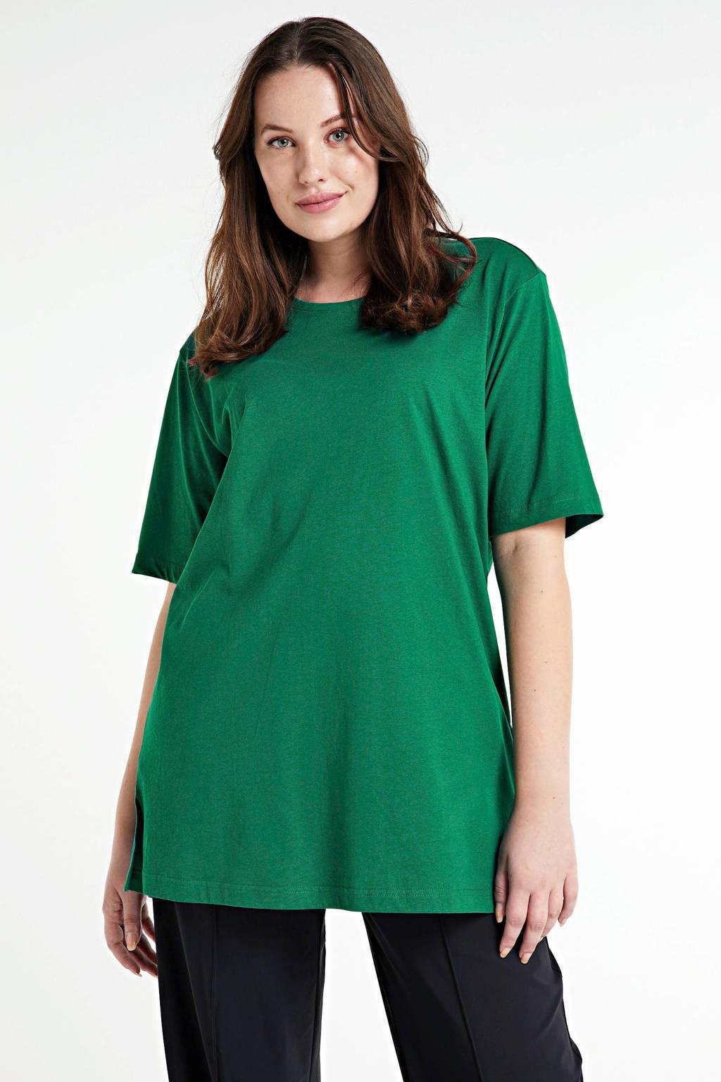 Ulla Popken T-shirt donkergroen, Donkergroen