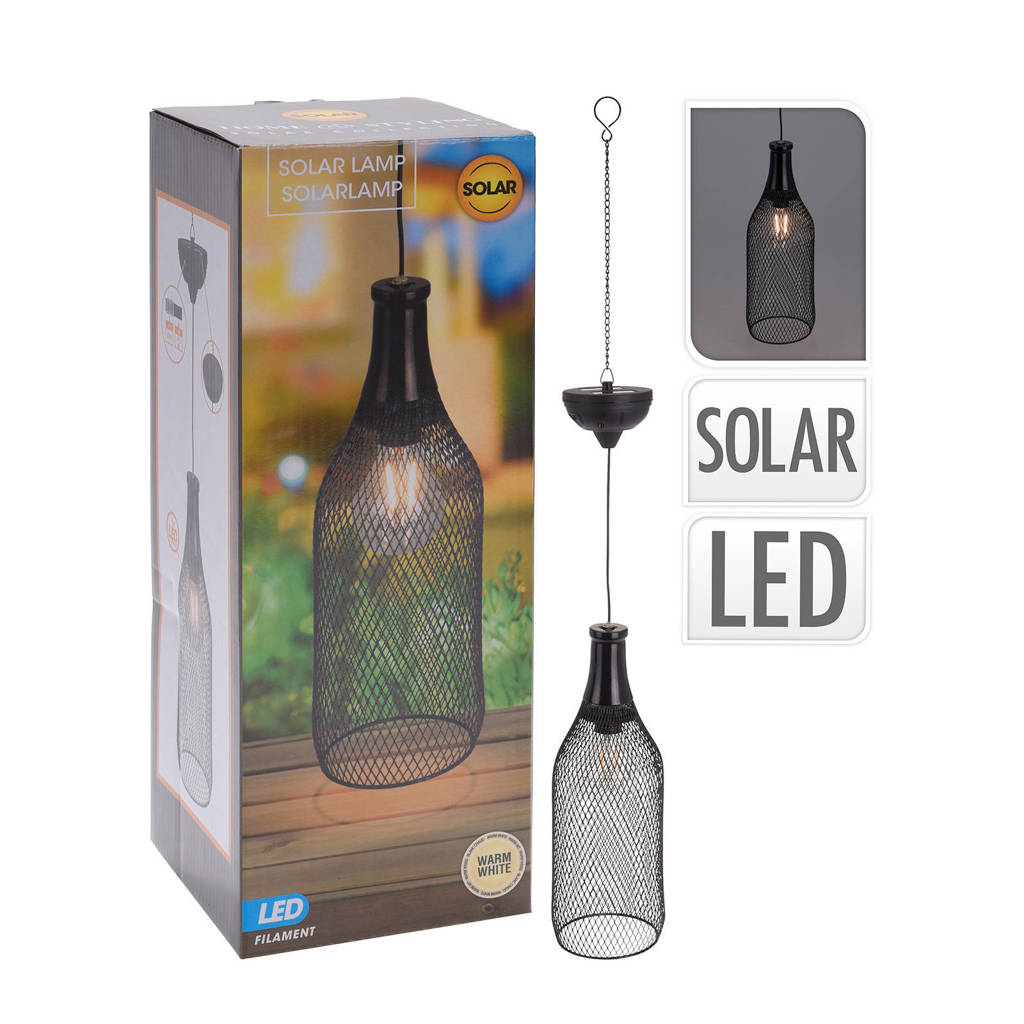 Pro Garden solar hanglamp, 11x11x30,5