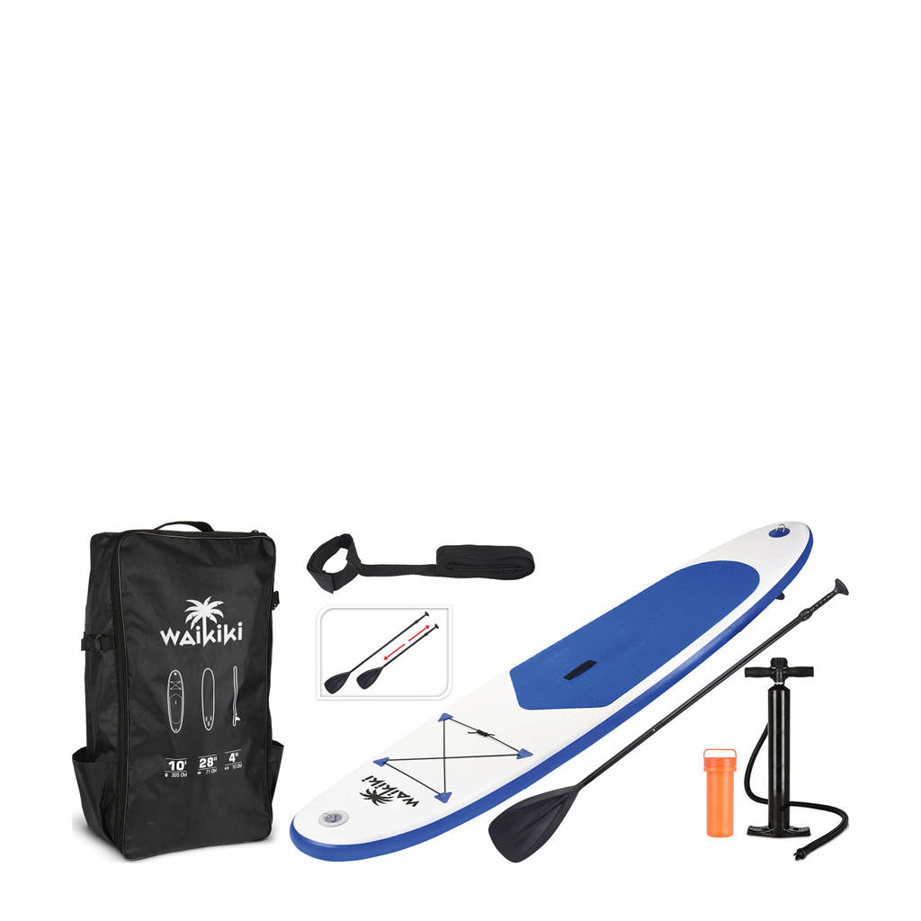 Pro Garden stand up paddle board, Blauw/wit