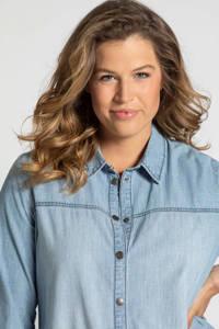 Ulla Popken spijker blousejurk lichtblauw, Lichtblauw