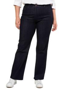 Ulla Popken flared jeans dark denim, Dark denim
