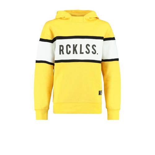 CoolCat Junior hoodie geel/wit/zwart