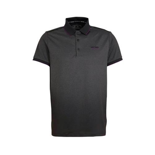 Sjeng Sports polo Floyd grijs/zwart