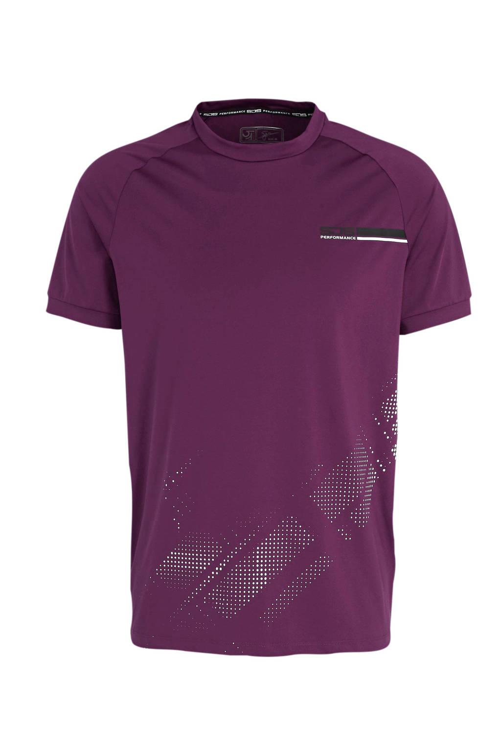 Sjeng Sports   T-shirt Mart paars, Paars