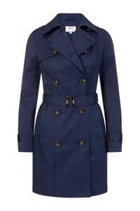 Miss Etam Regulier coat met ceintuur blauw, Blauw
