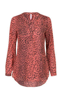 Miss Etam Regulier top met all over print rood, Rood