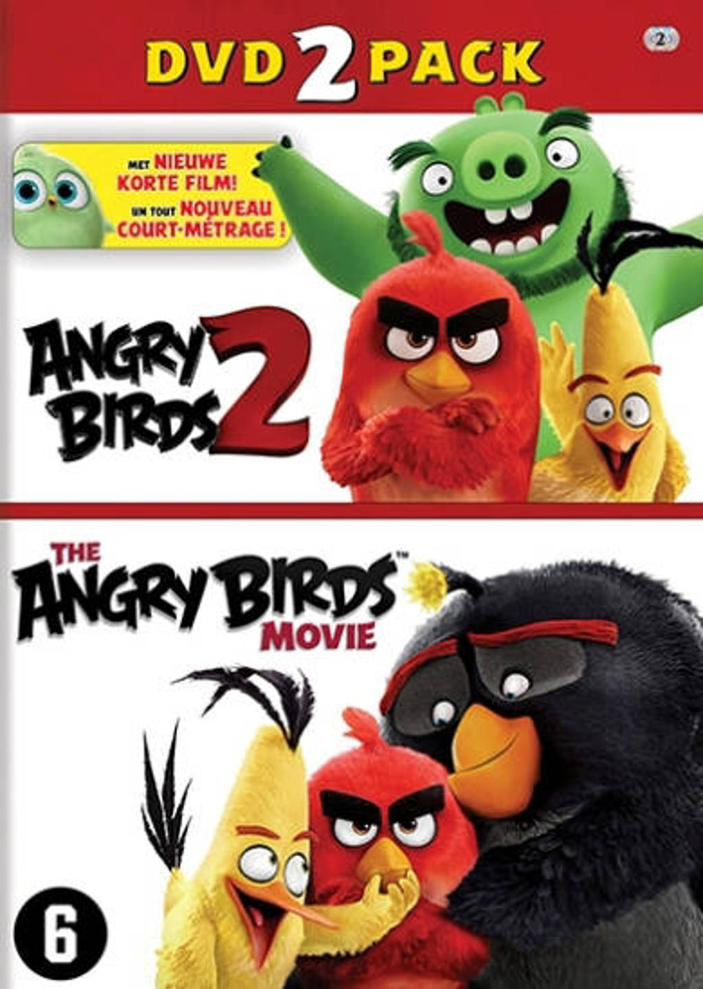 Angry birds movie 1+2 (BE) (DVD)