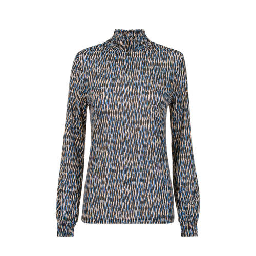 Miss Etam Lang T-shirt met all over print blauw