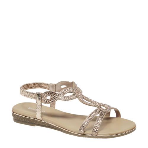 Graceland sandalen ros??goud