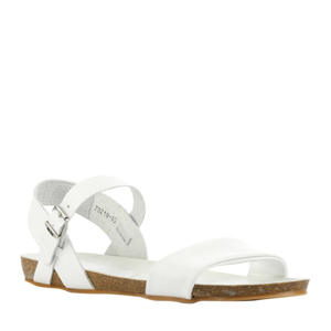 79218  leren sandalen wit