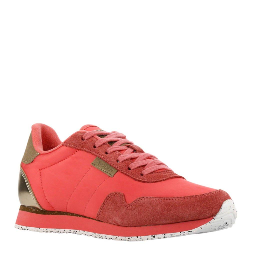 Woden Nora II  sneakers koraalrood, Koraalrood/goud