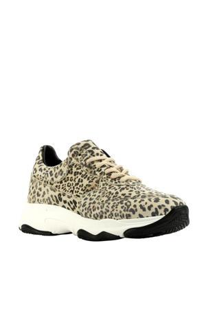 H17848  suède sneakers panterprint