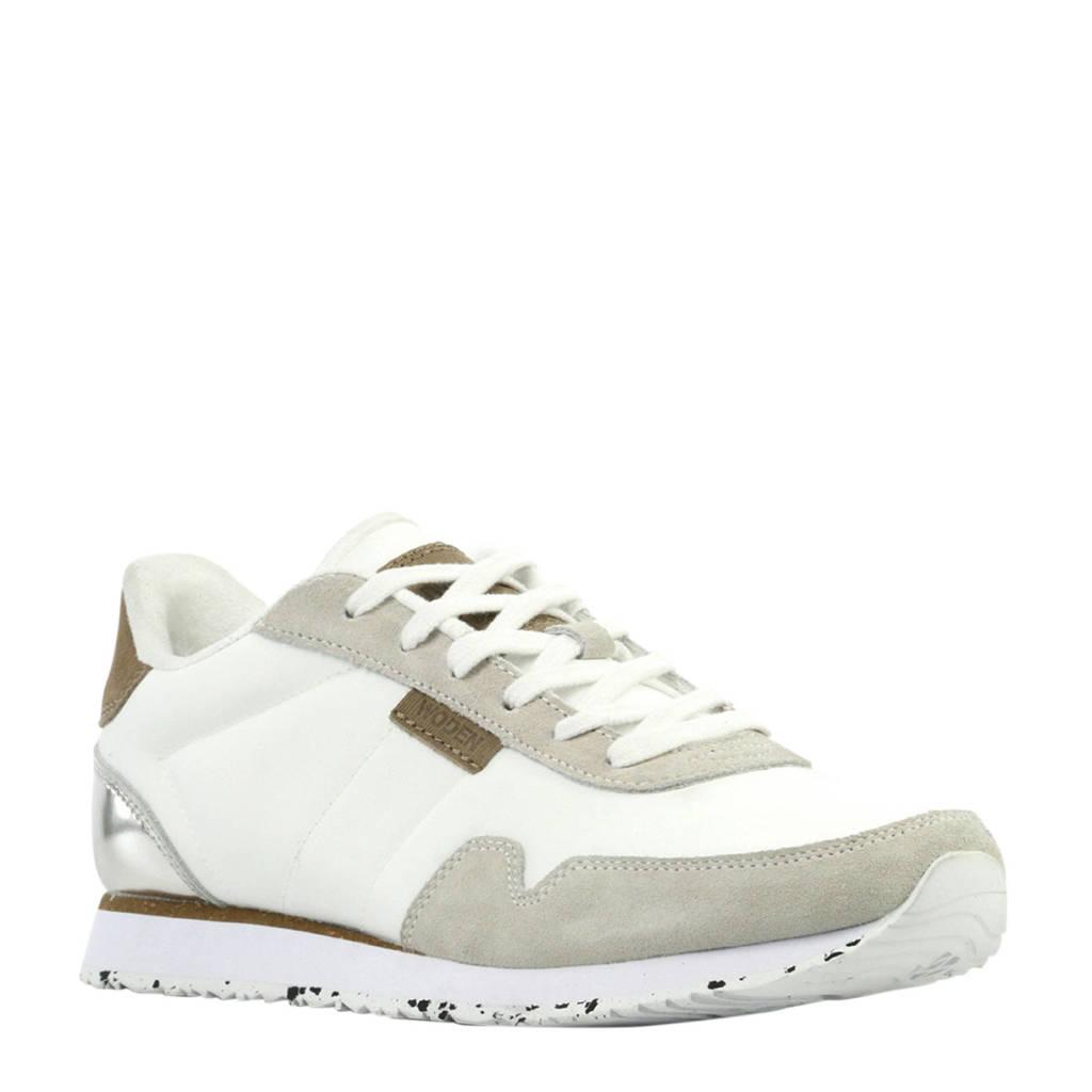 Woden Nora II  sneakers wit/zilver, Wit/zilver