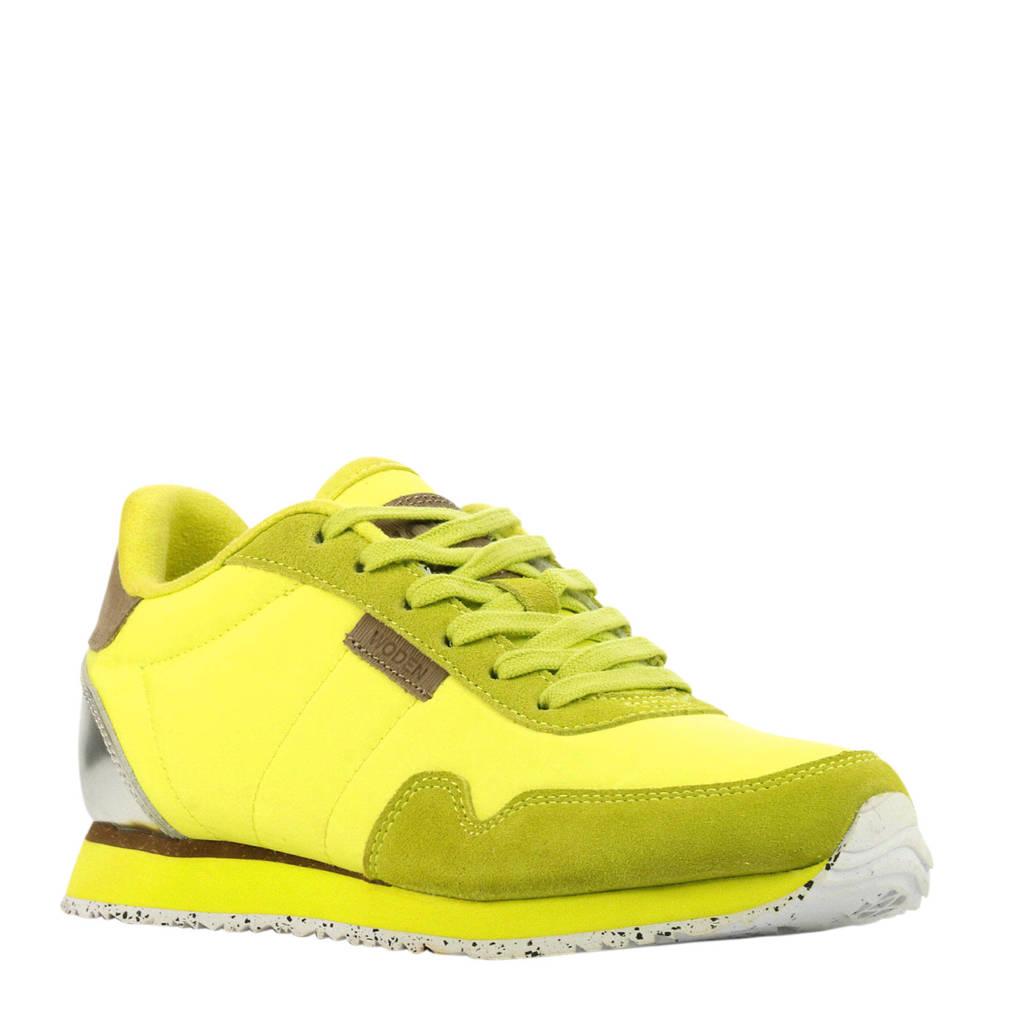 Woden Nora II  sneakers geel, Geel/zilver