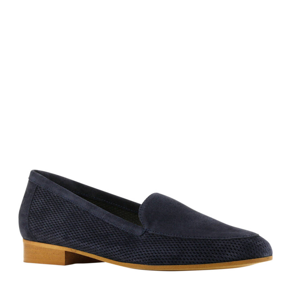 Lamica Nico  suède loafers donkerblauw, Donkerblauw