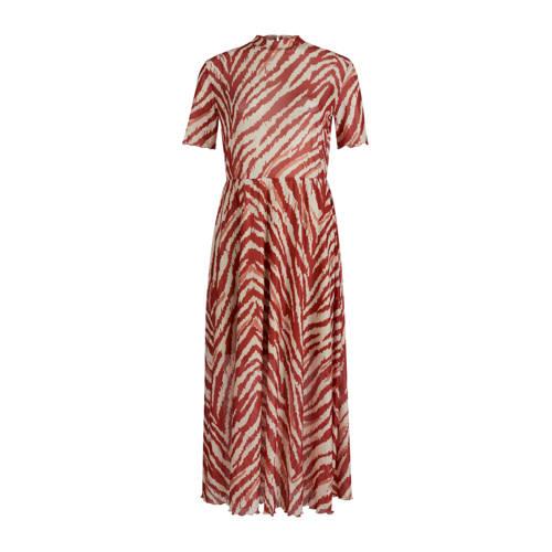 Eksept by Shoeby maxi jurk met zebraprint en ruches rood, Deze maxi damesjurk van Eksept is gemaakt van polyester en heeft een zebraprint. Het model beschikt over een knoopsluiting. De jurk heeft verder een opstaande kraag en lange mouwen.details van deze jurk:ruchesplooienExtra gegevens:Merk: Eksept by ShoebyKleur: RoodModel: Jurk (Dames)Voorraad: 1Verzendkosten: 0.00Plaatje: Fig1Plaatje: Fig2Maat/Maten: LLevertijd: direct leverbaar